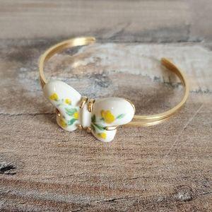 vintage Avon butterfly enamel cuff bracelet